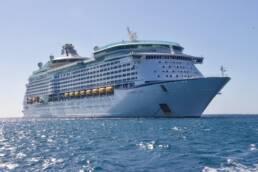 cruise ship sailing in ocean