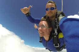 tandem skydiving out of a plane